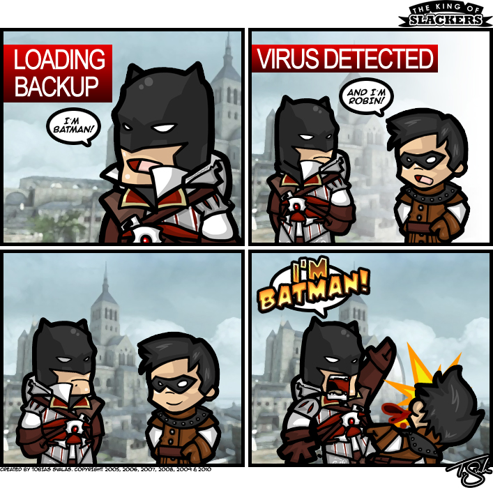 Assassin's Man Or Batcreed Brotherhood